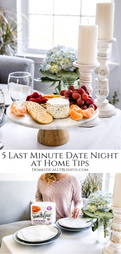 5 last minute date night at home tips to help you have a memorable & romantic date night in the comfort of your own home.