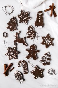 These DIY Cinnamon Salt Dough Ornaments are a beautiful keepsake that you can decorate your Christmas tree with year after year.