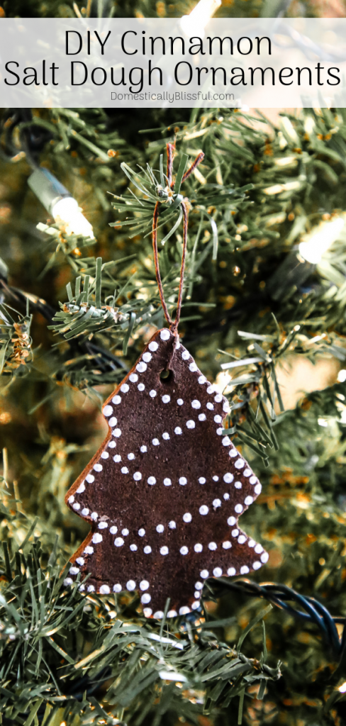 TheseDIY Cinnamon Salt Dough Ornaments are a beautiful keepsake that you can decorate your Christmas tree with year after year.