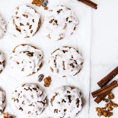 Iced Raisin Bran Cookies