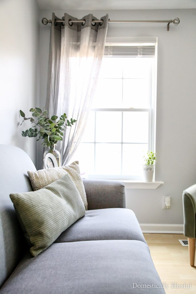 Apartment Living Room Makeover Domestically Blissful