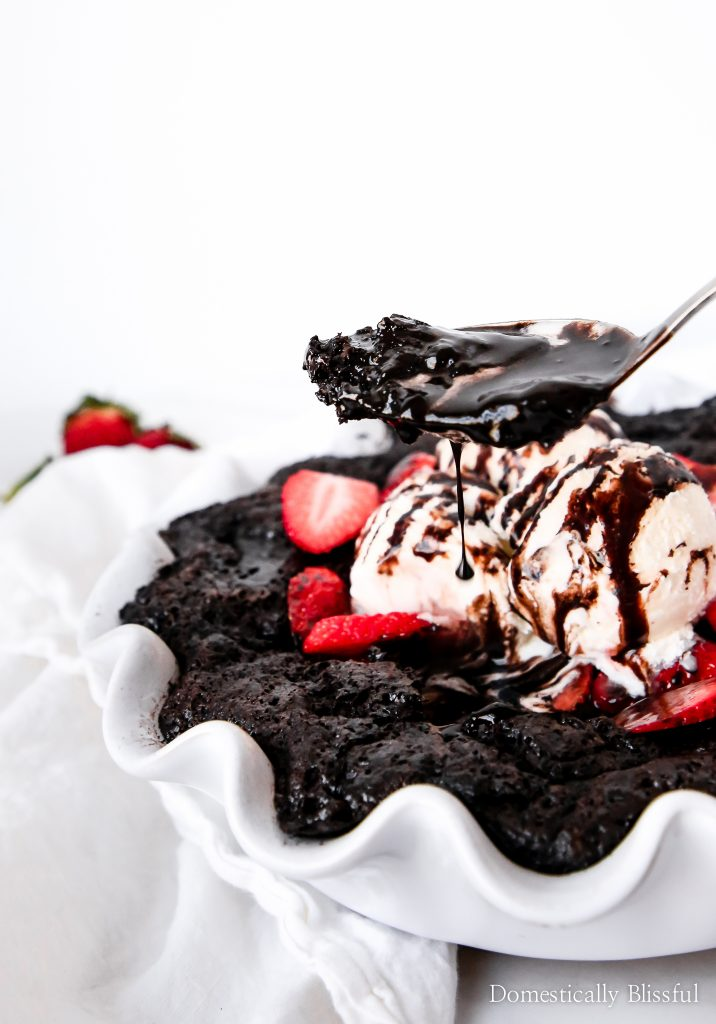 Hot Fudge Pudding Cake is a classic family dessert recipe that has a layer of hot fudge beneath a rich chocolate cake.
