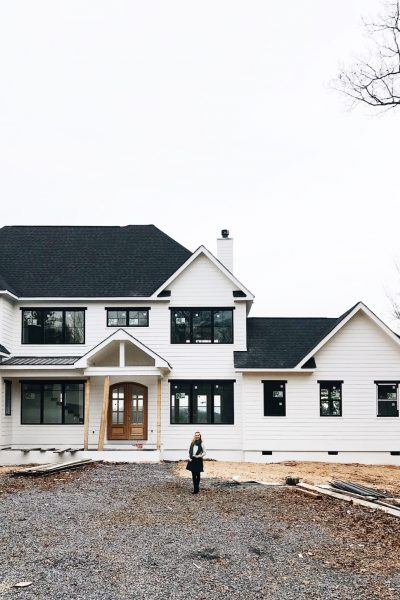 Our eighth month of house building with a video update of our dream home that has been painted outside & now has hardwood floors!!