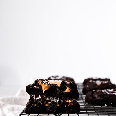 Sea Salt Caramel Double Dark Chocolate Cookies
