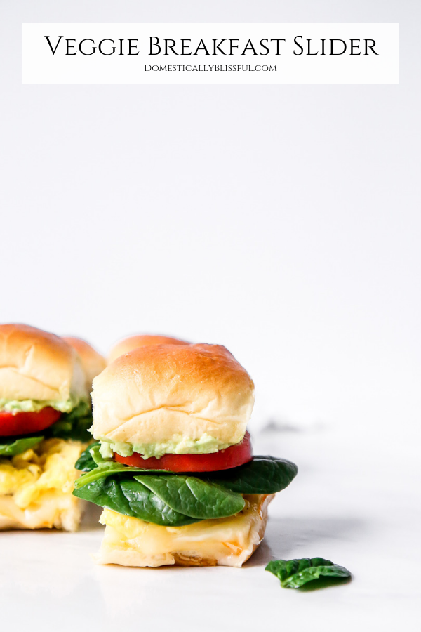 These Veggie Breakfast Sliders are filled with fresh veggies & are a great breakfast recipe to feed your whole family.