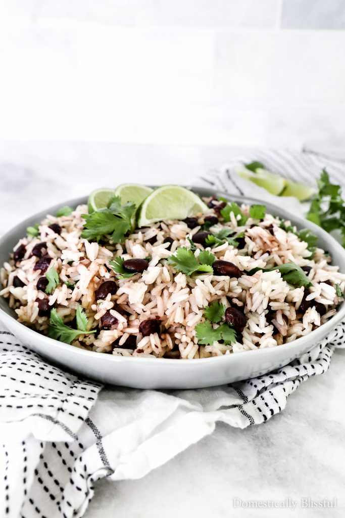 This Cilantro Lime Black Bean Rice is made with less than 10 ingredients & in under 15 minutes!