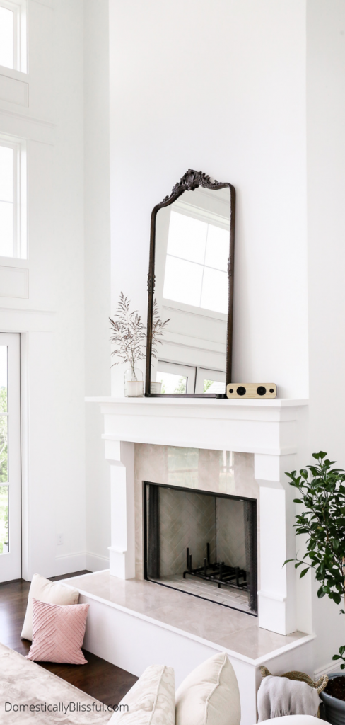 10 oversized mirrors you will love that will look gorgeous above your fireplace mantel.