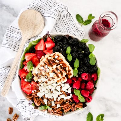 Grilled Halloumi Berry Salad