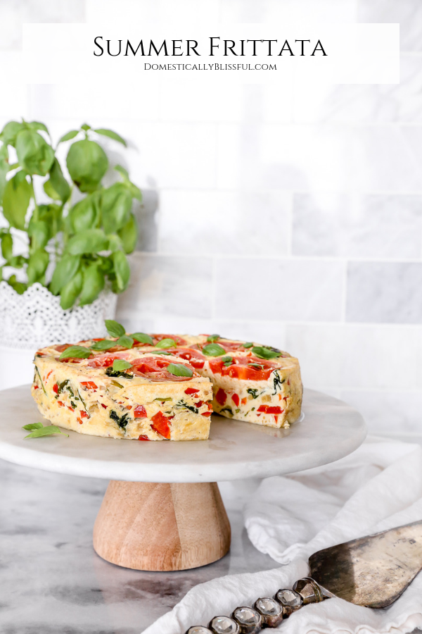 This Summer Frittata is filled with fresh vegetables & cooked in a Crock-Pot® Express 8-Quart Pressure Cooker so you can feed even more people for brunch!