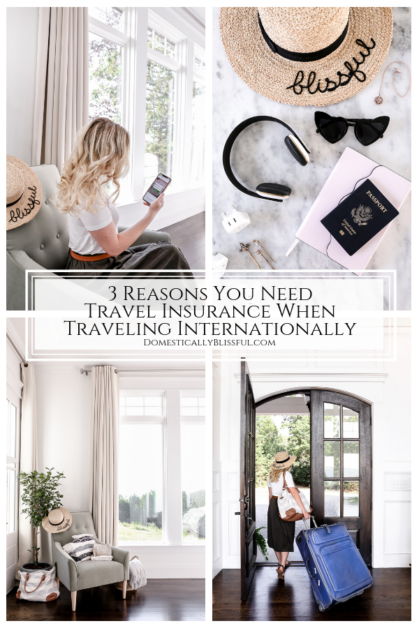 3 reasons you need travel insurance when traveling internationally.
