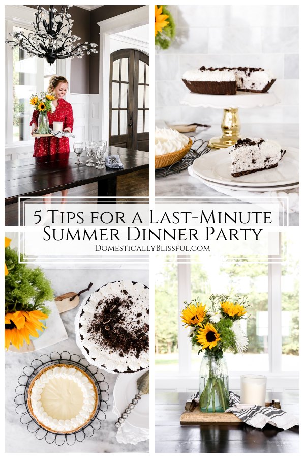 5 tips for a last-minute summer dinner party that your guests will love & remember!