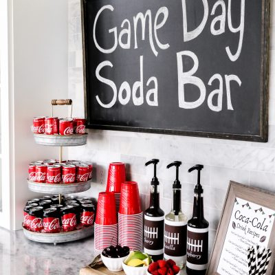How to Create a Game Day Soda Bar
