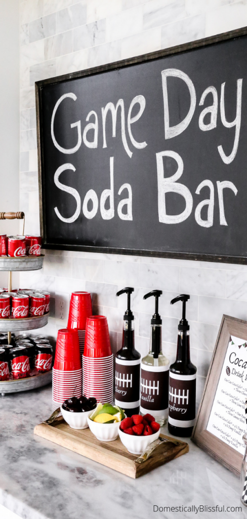 How to create a game-day soda bar for football parties this season with time-saving tips you'll love!