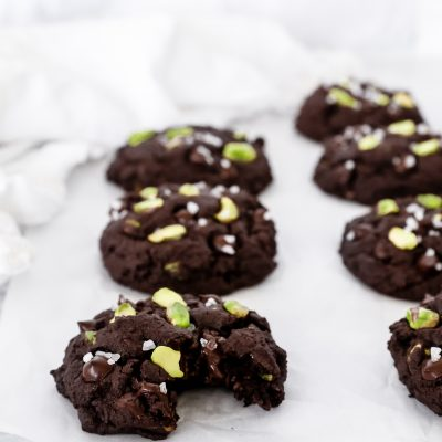 Double Dark Chocolate Pistachio Cookies