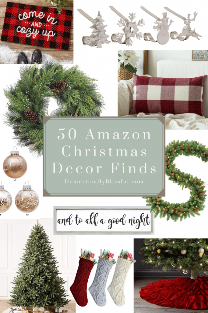 50 Amazon Christmas decor finds to help you decorate your home for the holiday season!