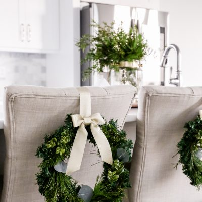 DIY Mini Chair Christmas Wreaths