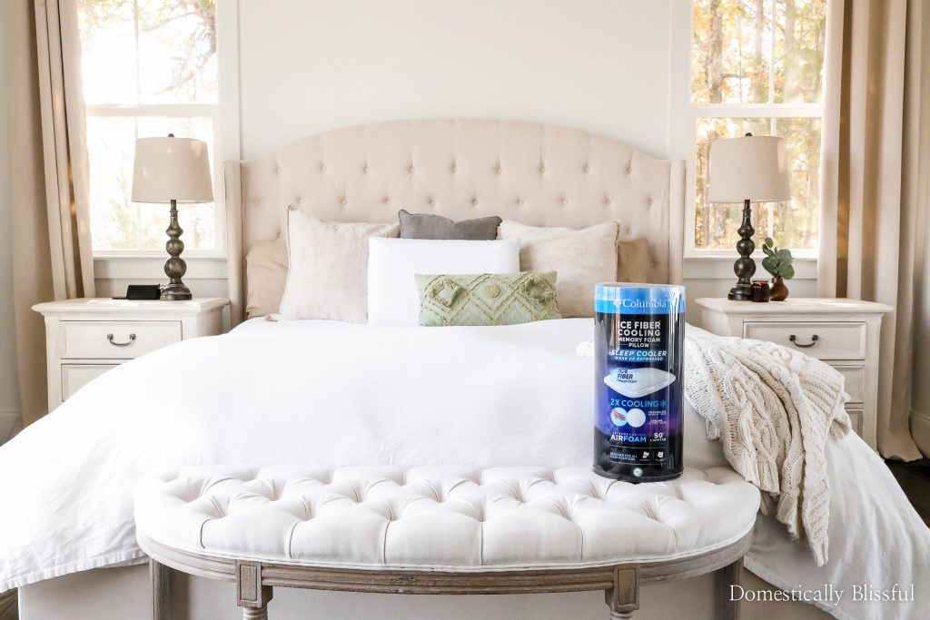 How to sleep cooler at night with a Columbia Ice Fiber Pillow from Kohl's.