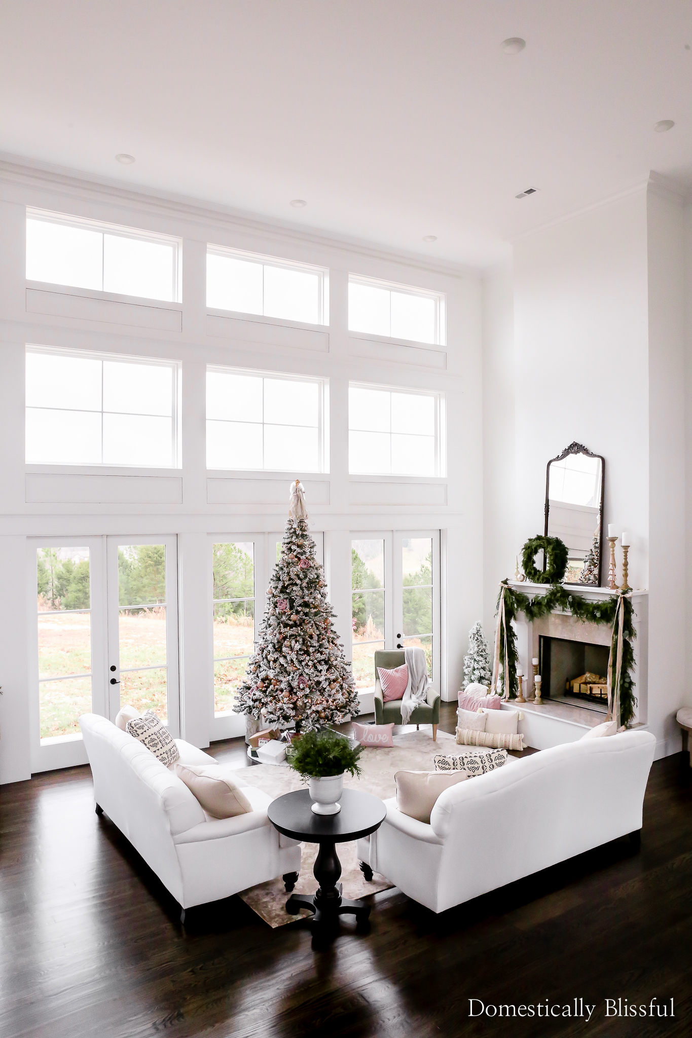 Living Room Christmas Decor - Domestically Blissful