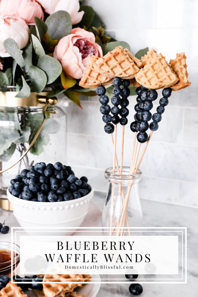 These Blueberry Waffle Wands are perfect for a brunch treat or a quick on the go snack!