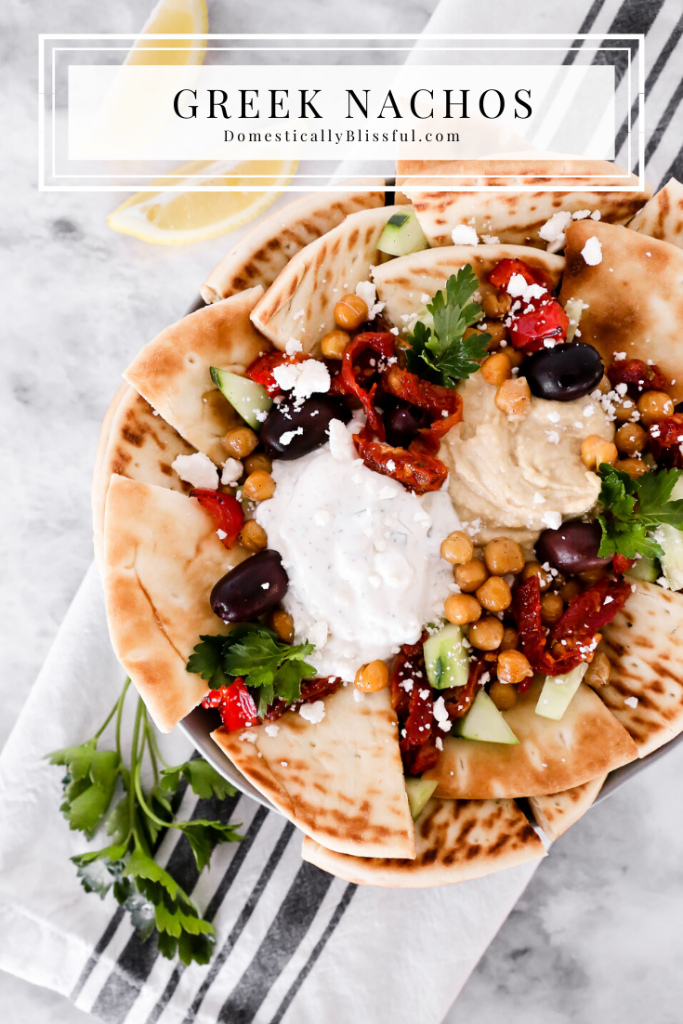 These Greek Nachos are a fun and simple dinner solution full of fresh ingredients and flavor!