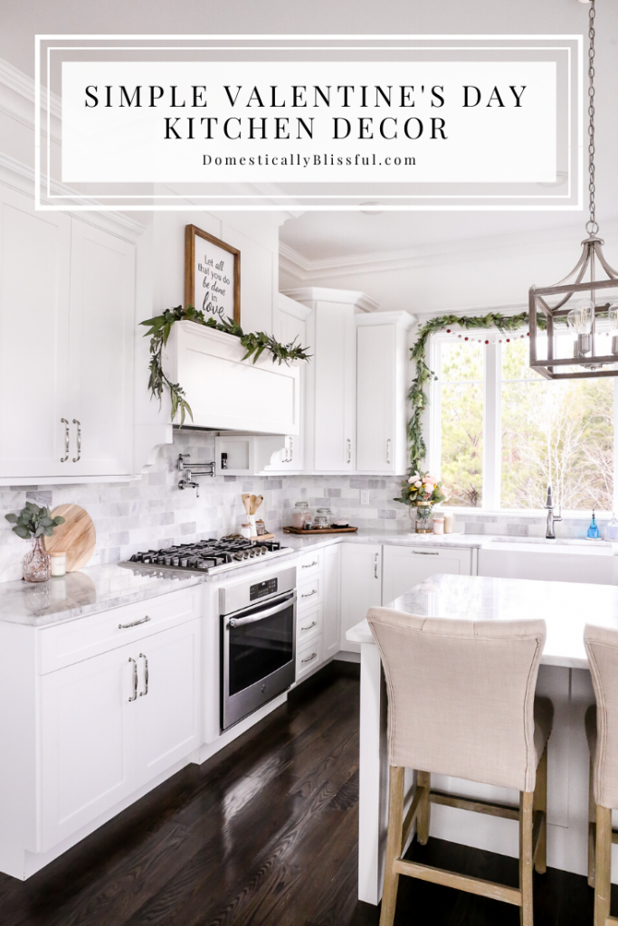 Simple Valentine's Day kitchen decor to refresh your kitchen space between Christmas and spring.