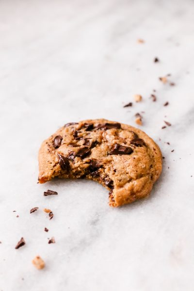 These Chocolate Chunk Toffee Cookies are soft, chewy, and super easy to make for dessert!