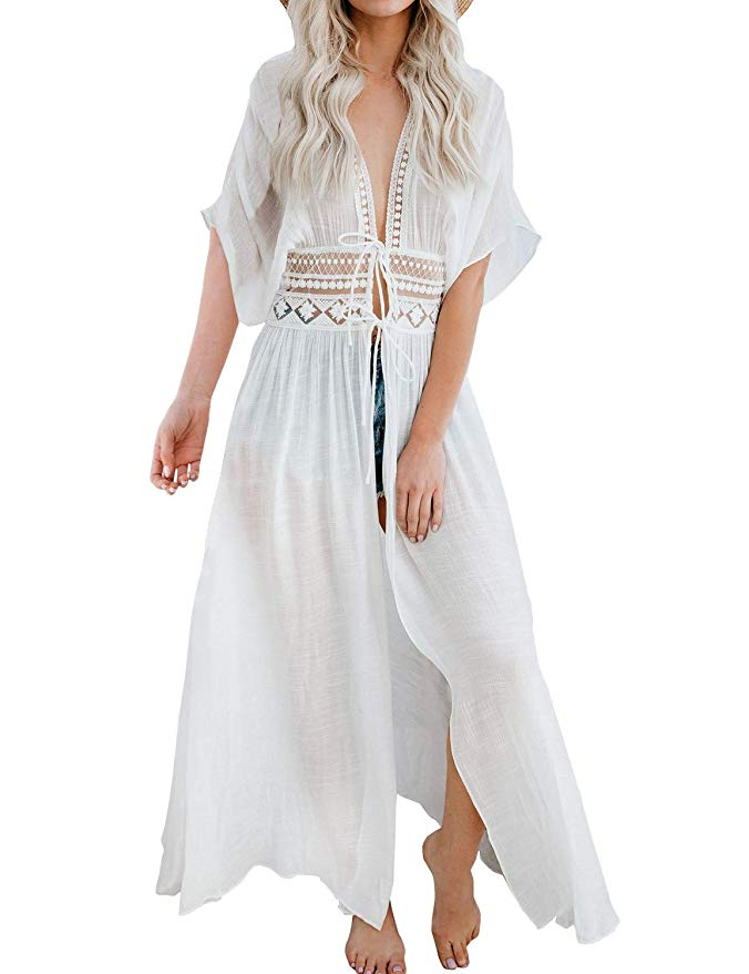 10 beautiful Amazon swimsuit cover-ups that are white for your next beach vacation!