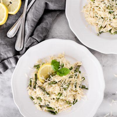 Creamy Lemon Asparagus Orzo
