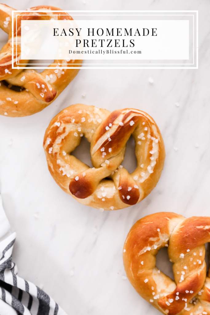 These Easy Homemade Pretzels are soft, salty, and perfectly delicious!