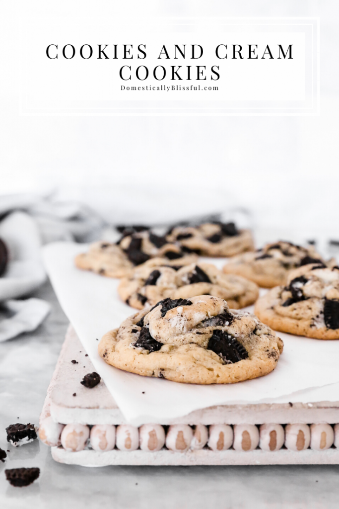 These Cookies and Cream Cookies are a double dose of goodness packed in a chewy cookie.