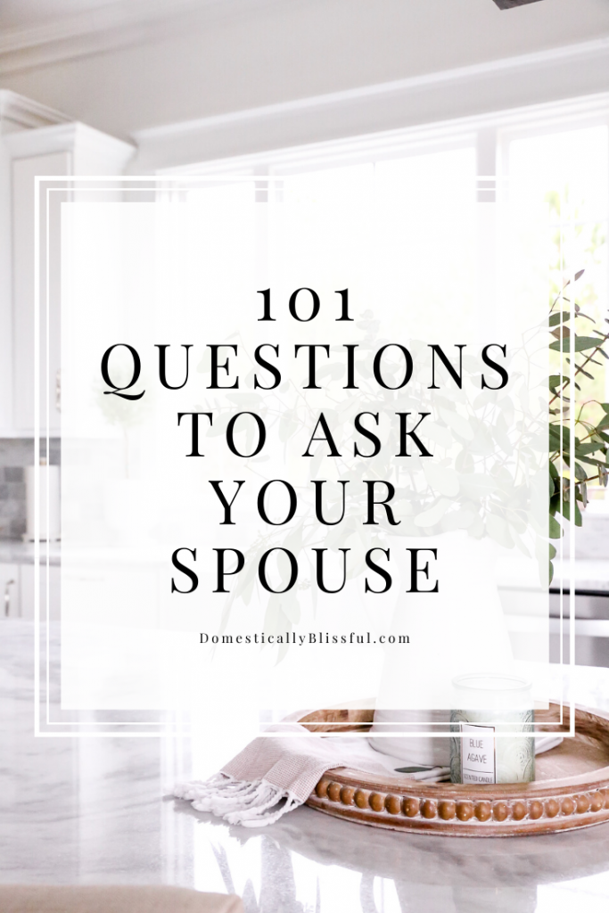 101 questions to ask your spouse while on a date night at home or on a road trip together. These questions are fun for both newlyweds and those who have been with their spouse for 10+ years!