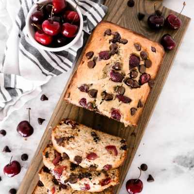 Chocolate Chip Cherry Banana Bread