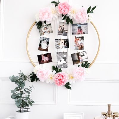 DIY Hoop Wreath Baby Guessing Game
