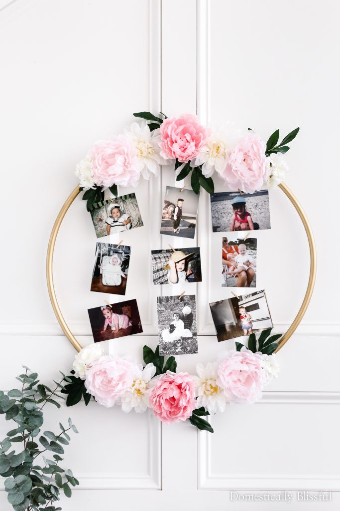 DIY Hoop Wreath Baby Guessing Game to create and play with your guests the next time you host a baby shower.