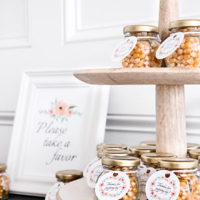 DIY Popcorn Baby Shower Favors