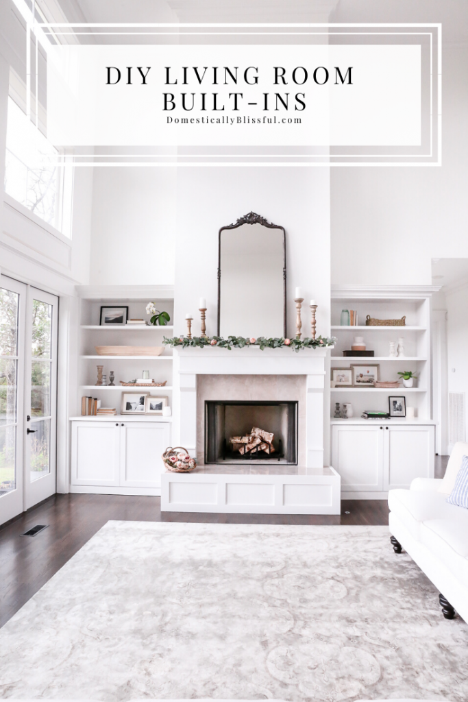 This tutorial for DIY Living Room Built-Ins will help you create your dream built-in bookshelves for your living room or family room space.