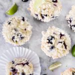 These Key Lime Blueberry Muffins are a fun and delicious summery citrus twist on traditional blueberry muffins, plus they are topped with a delicious streusel topping!