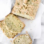 This Parmesan Zucchini Bread recipe is a savory zucchini bread filled with fresh zucchini, fresh basil, and parmesan cheese.