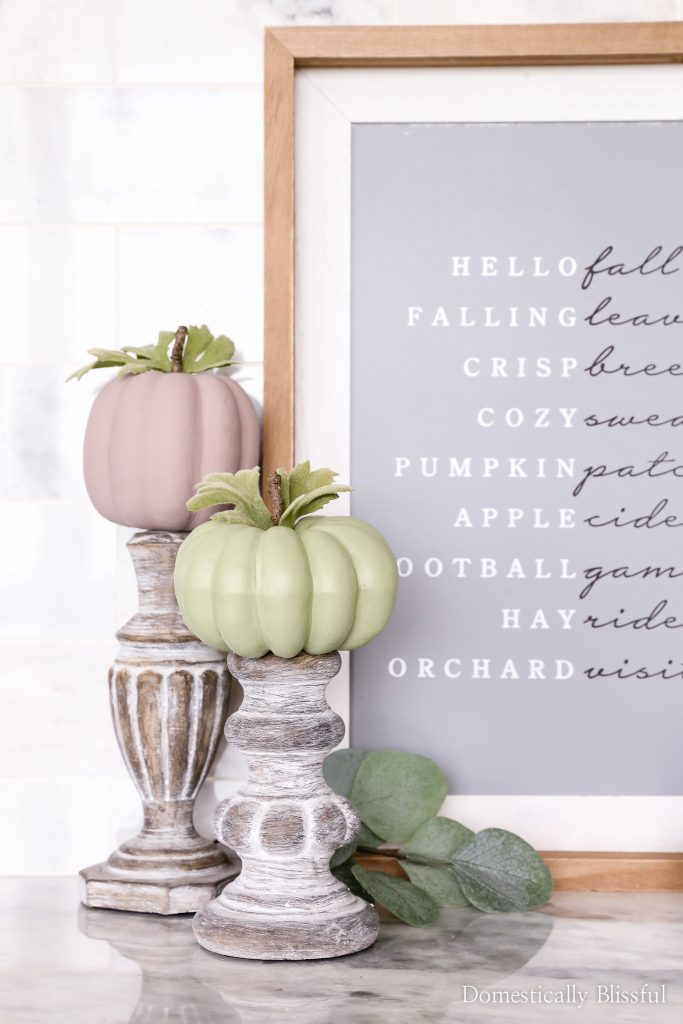 DIY $1 Painted Pumpkins for cheap and easy fall decor for your home.