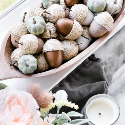DIY Neutral Fall Acorns
