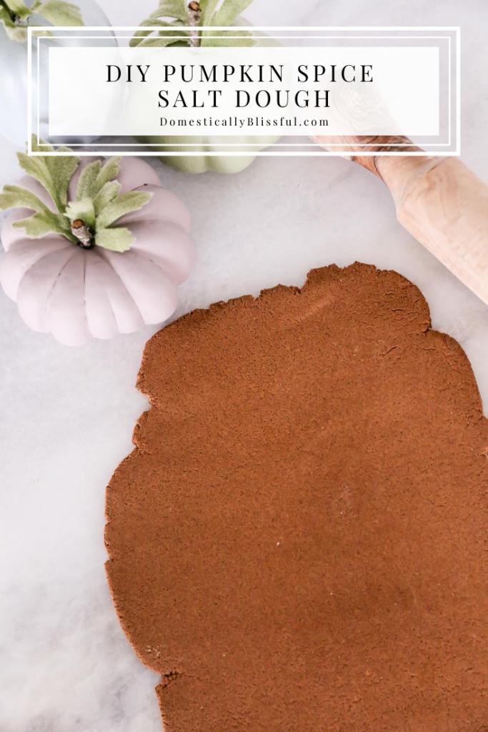 DIY Pumpkin Spice Salt Dough to create fun fall decor with your children.