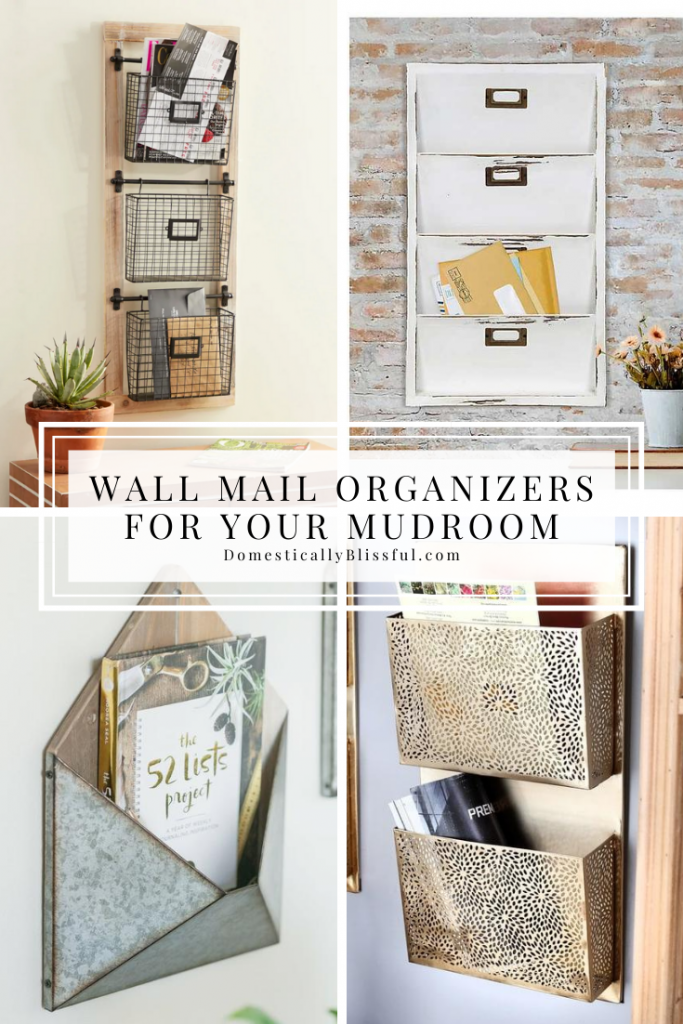 Wall Mail Organizers for Your Mudroom to help keep your entry clutter-free and organized.