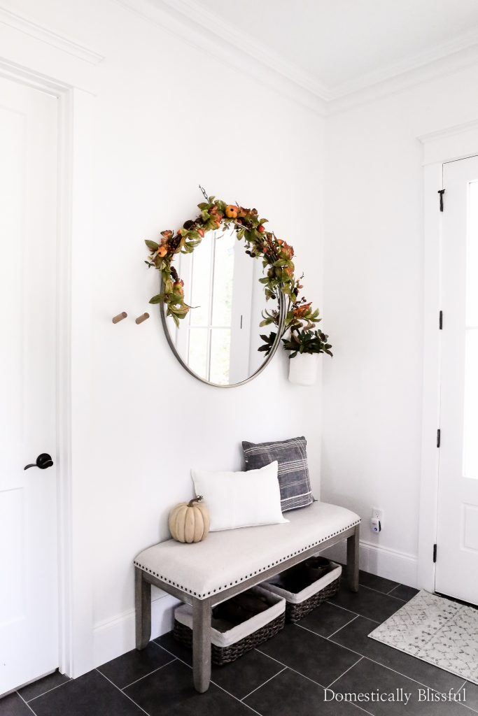 Fall home tour sharing all of the details of our fall decor this year.