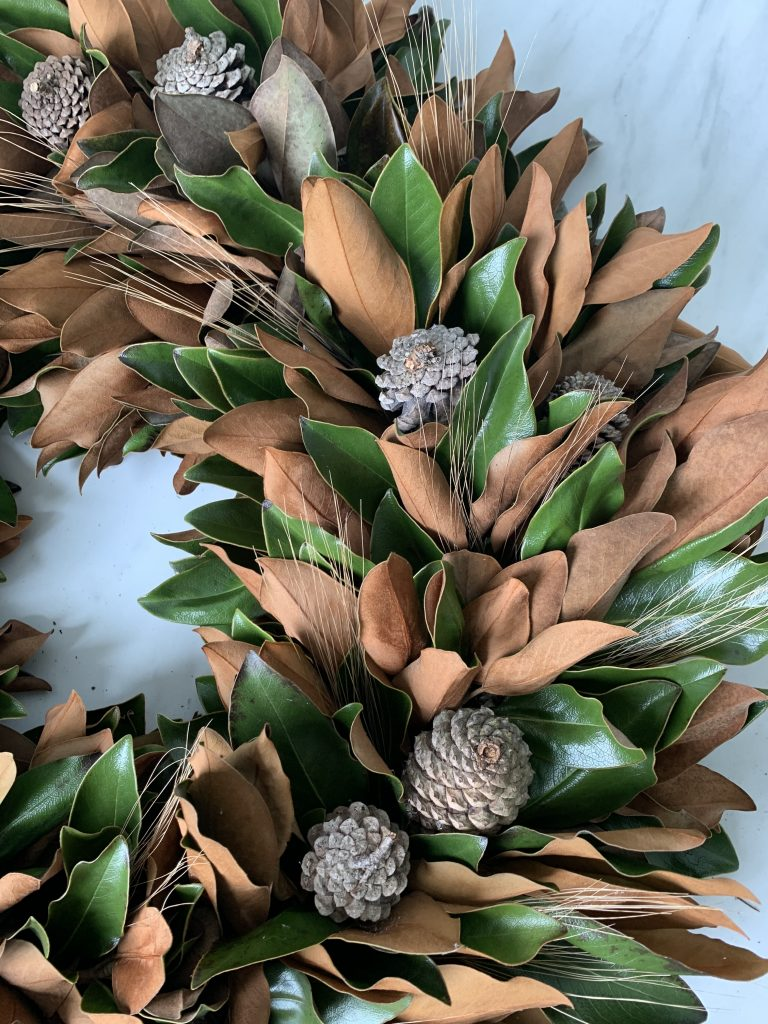 This DIY Fall Magnolia Wreath is perfect for autumn because it changes colors with the season.