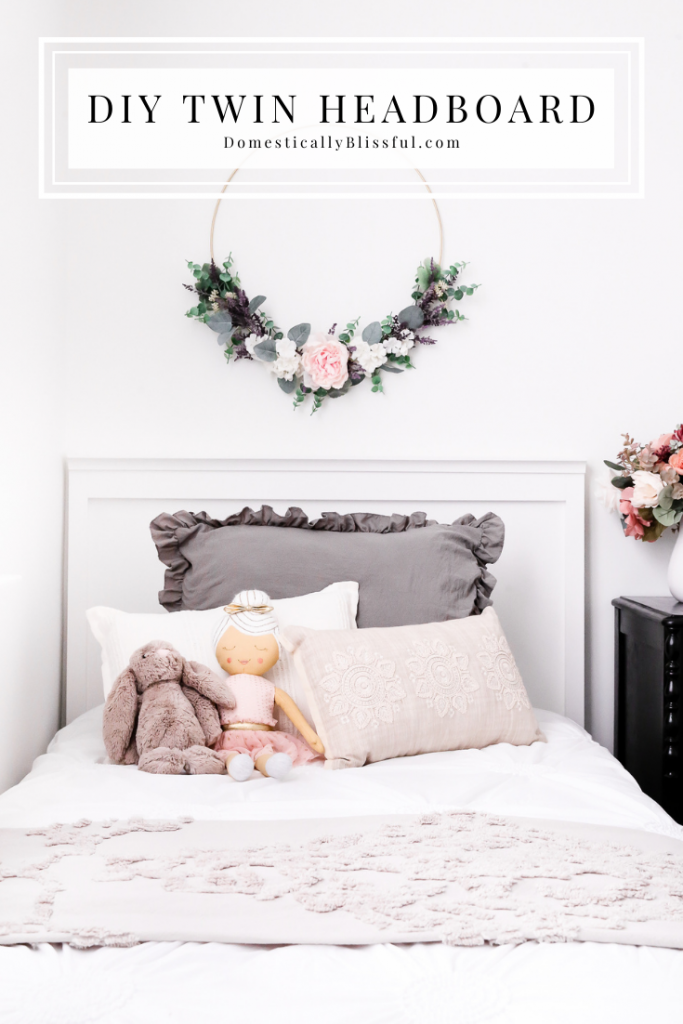 A DIY Twin Headboard you can make with wood for your child's bedroom.