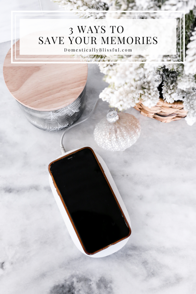 3 Ways to Save Your Memories including a wireless charger that automatically backups your phone!