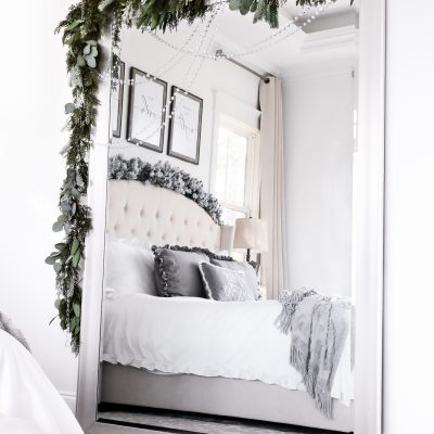 DIY Mirror Christmas Garland
