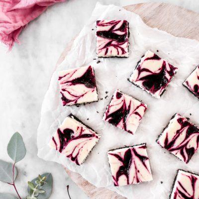 Cherry Swirl Cheesecake Bars