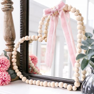 DIY Wood Bead Heart