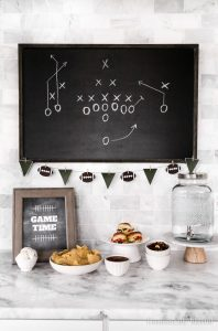 Easy Game Day Food Bar with 5 tips to help you prepare for a simple and fun game day at home!